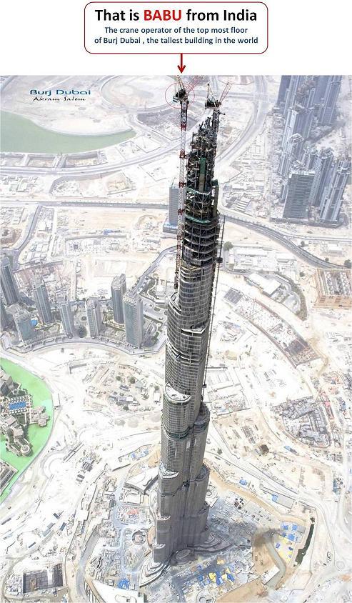 Crane operator in DUBAI