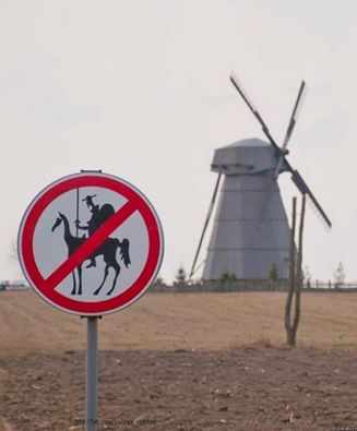 Don quichotte et moulin