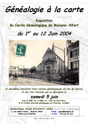Affiche exposition 2004