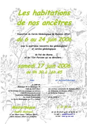 Affiche de l'exposition 2006
