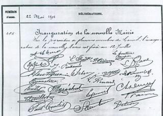 Les membres du conseil municipal qui ont signé.