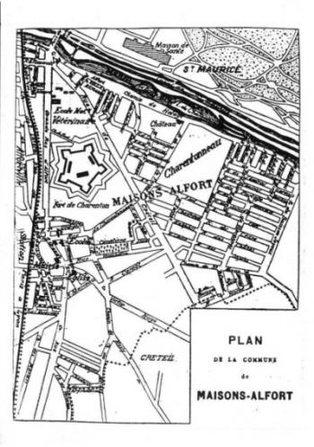 1901 Petibon : Plan de Maisons-Alfort