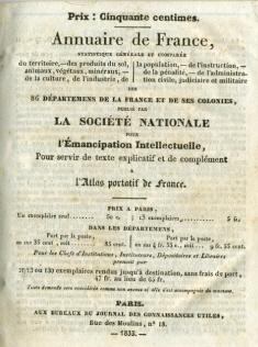 L'annuaire de France - 1833