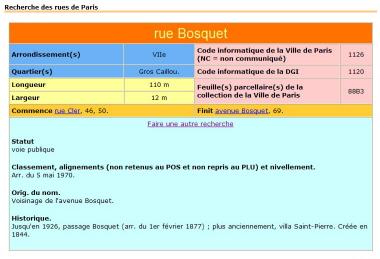 Rue Bosquet