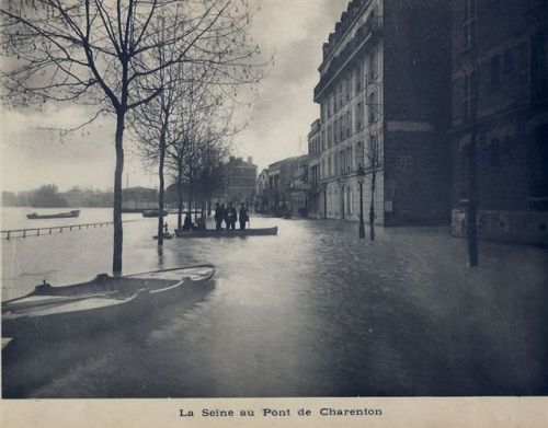 la seine au pont de charenton inondations 1910 cgma maisons alfort. Black Bedroom Furniture Sets. Home Design Ideas