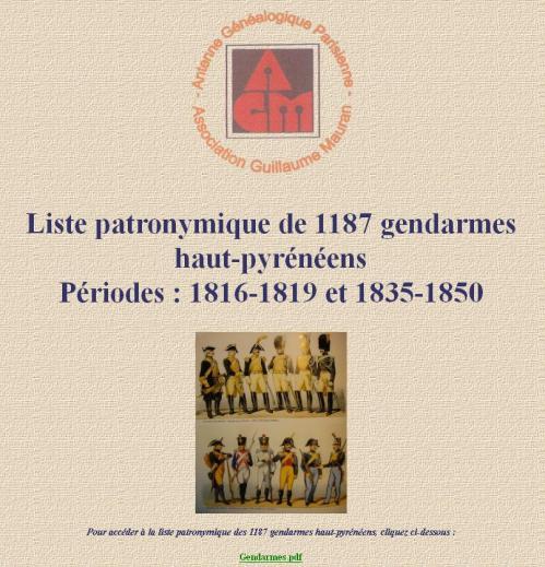 Gendarmes AGP-AGM