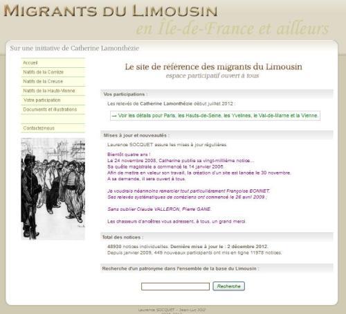 Migrants en Limousin