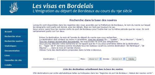 Les visas en Bordelais