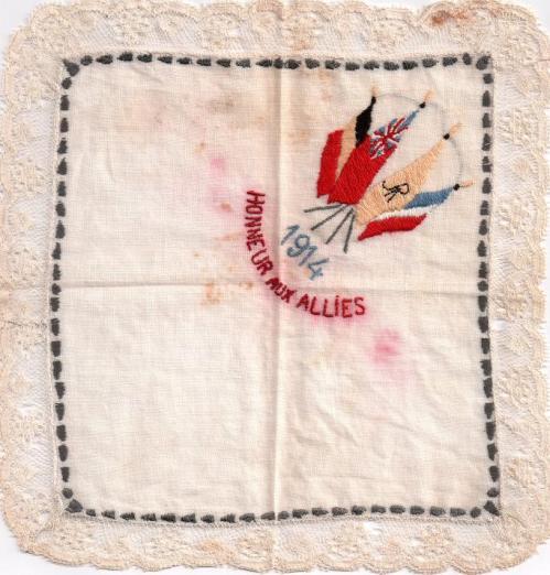 mouchoir Alliés 1914-1918