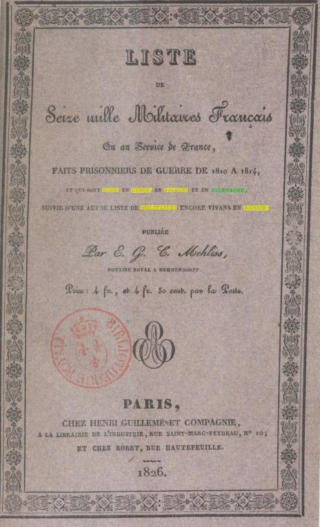 Militaires 1810-1814