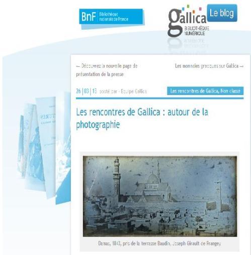 Gallica - Rencontres