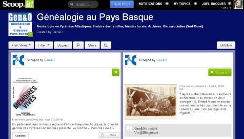 Scoop-it généalogie au Pays Basque