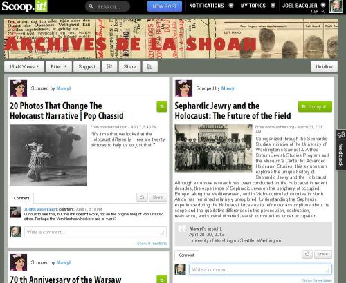 Scoopt-it Archives de la SHOAH
