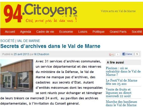 Secrets d'Archives