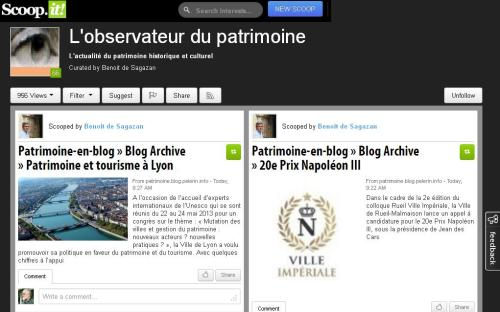 Scoop-it - L'observateur du patrimoine