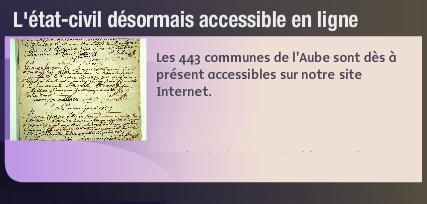 443 communes de l'Aube en ligne