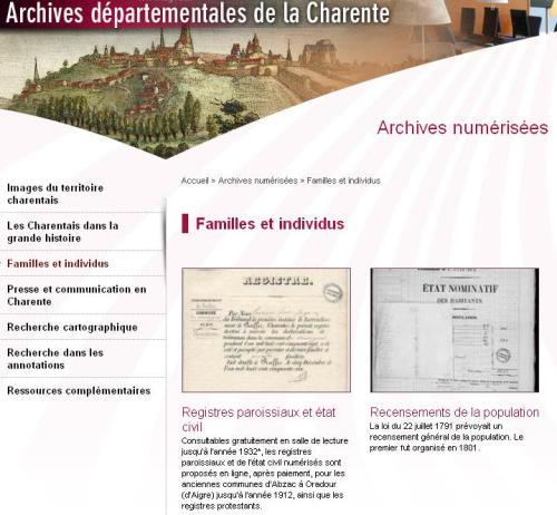 AD 16 Registres et recensements