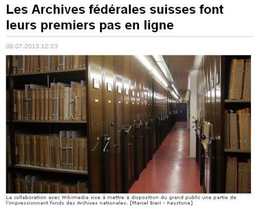 Archives fédérales Suisse