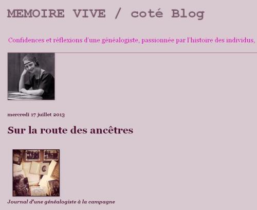 Mémoire vive Coté blog