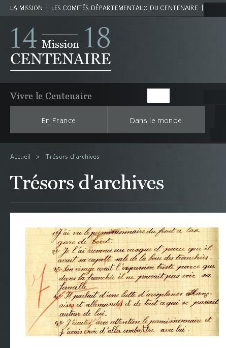 Trésors d'archives