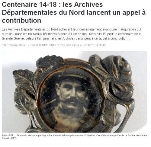 AD 59 CEntenaire 14-18