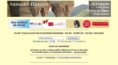 Annuaire Histoire