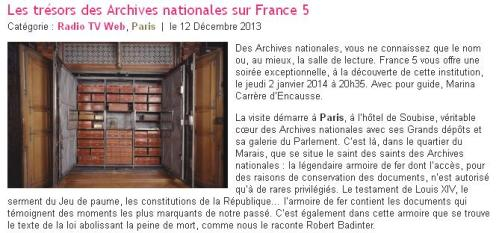 France 5 archives nationales
