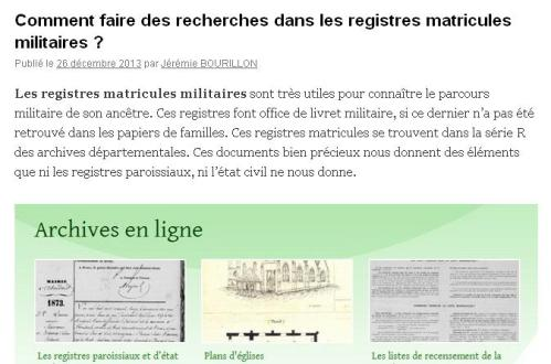 Registres Matricules