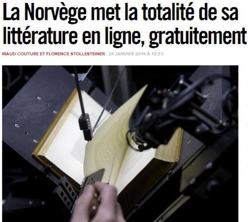 Norvège littérature en ligne