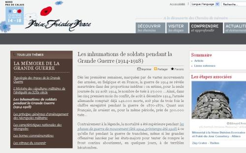 Inhumations guerre 14-18
