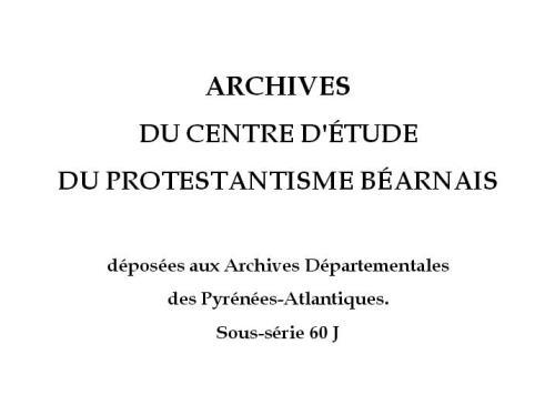 Protestantisme Béarnais