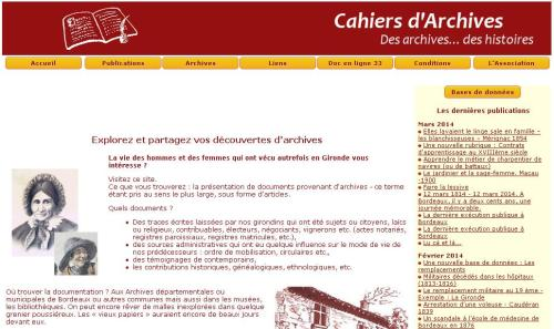 Cahier d'Archives