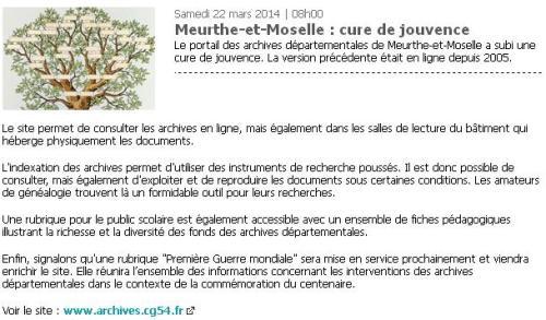 Meurthe-et-Moselle cure de jouvence