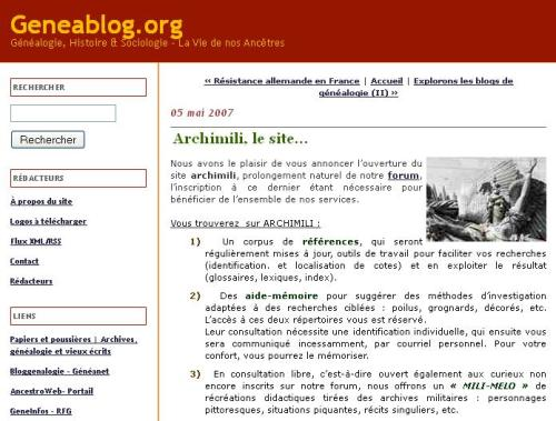 Archimili le site