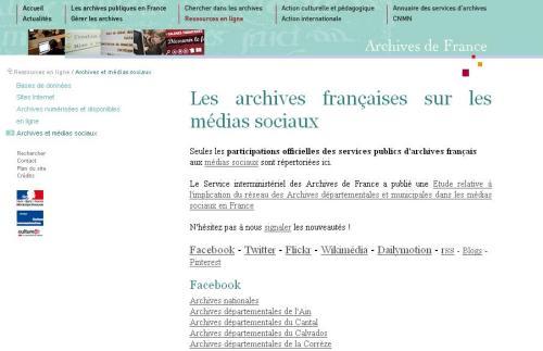 Archives et médias sociaux
