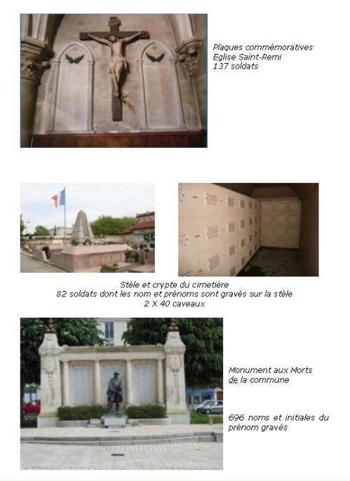TRois monuments