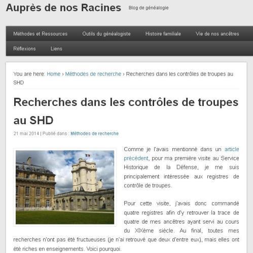 Controle de Troupes au SHD