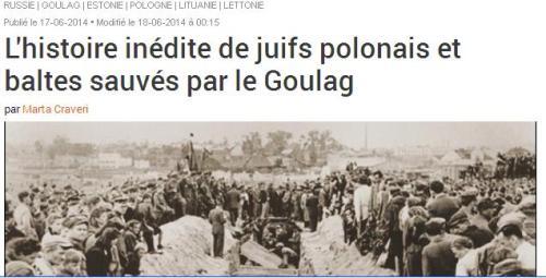 Juifs sauvés pa r le Goulag