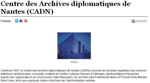 CADN - Archives diplomatiques