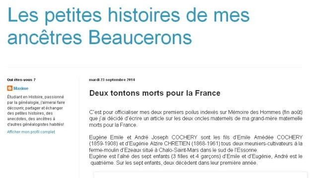 Maxime ancêtres Beaucerons