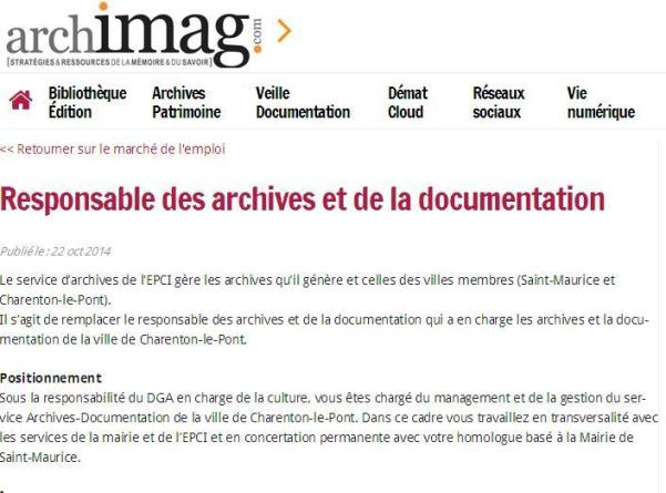 Archives - Charenton