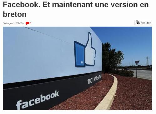 Face book en Breton