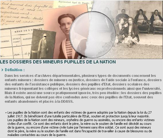 Indre et Loire - pupilles de la nation