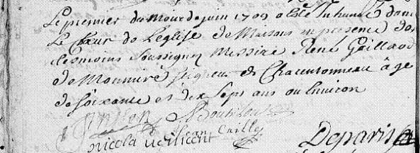 1 juin 1709