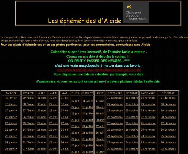 Ephemerides d'Alcide