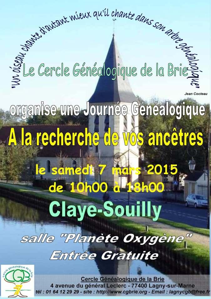 Affiche - Inter Cercles 7-3-2015