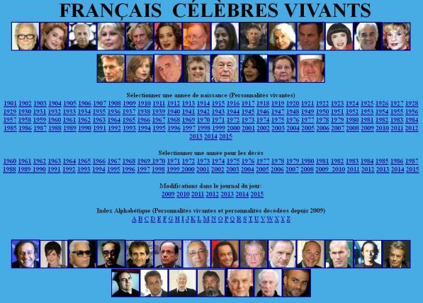 Français célèbres
