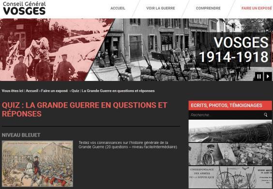 Quiz 1GM Vosges