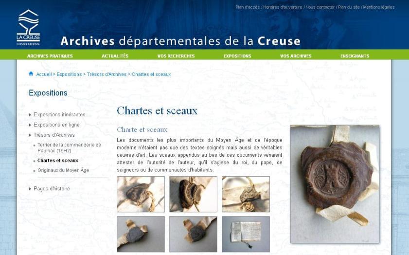 AD 23 - Chartes et sceaux