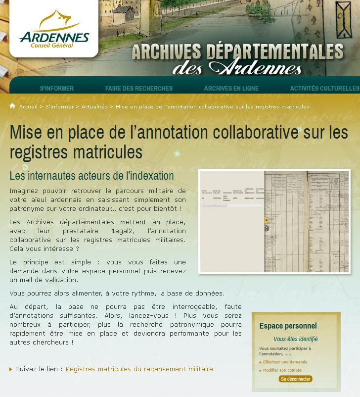 Ardennes - indexation collaborative